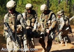 Clip Art Photo of U.S. Army Soldiers on Patrol