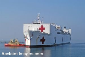 Clip Art Photo Of The Military Sealift Command Hospital Ship USNS Mercy