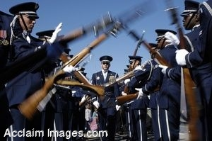 Clip Art Photo Of U.S. Air Force Honor Guard Drill Team Performing at the Pentagon