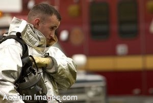 Clip Art Photo Of U.S. Air Force Firefighter