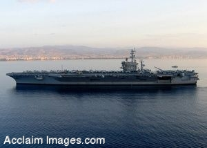 Clip Art Photo of USS Dwight D. Eisenhower Anchored Off the Coast of Cyprus
