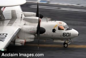 Clipart Photograph of an Aircraft Taking Off From a Flight Deck