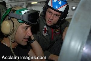 Clipart Photograph of Musician Scott Stapp Talking With a Sailor