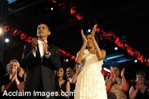 Clip Art Photo of President and Mrs. Obama