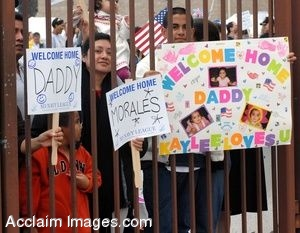 Clipart Picture Of Soldiers Being Welcomed Home By Their Families