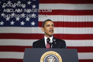 Clip Art Stock Photo of American President Barack Obama Making a Speech