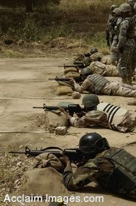 Clipart Picture of Iraqi Soldiers During A Training Exercise