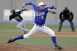Clip Art Stock Photo of Air Force Falcons Baseball Pitcher