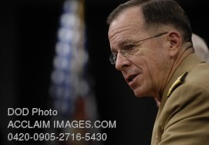Clip Art Stock Photo of the Chairman of the Joint Chiefs of Staff-Adm. Michael Mullen