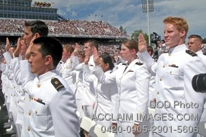 Clip Art Stock Photo of Soldiers Graduating Military Academy