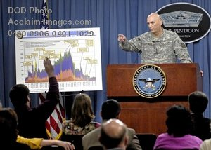 Clip Art Stock Photo of U.S. Military General During a Press Briefing-Pentagon