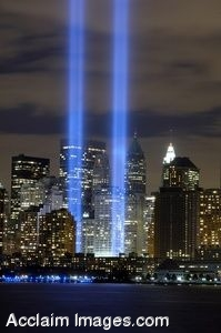 Clipart Photo of The Ground Zero Tribute In Light Memorial