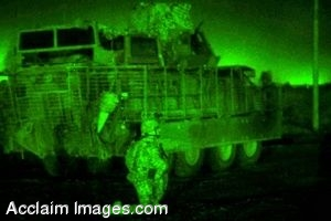 Clipart Photo of Soldiers In Night Vision