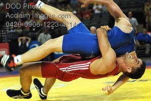 Clip Art Stock Photo of Army Wrestlers-USA Wrestling World Team Trials
