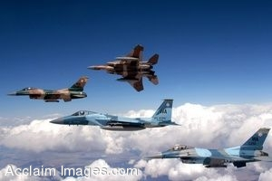 Clipart Photo of A Formation Of Jets