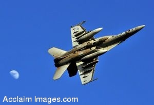 Clipart Photo of a Super Hornet Fighter Jet