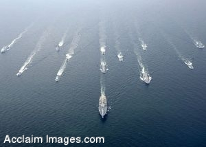 Clipart Photo of Navy Ships Sailing In The Baltic Sea