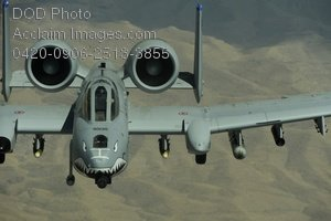 Free Public Domain Picture: U.S. Air Force A-10 Thunderbolt Aircraft Flying Over Afghanistan