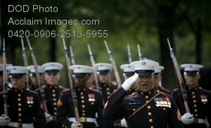 Free Public Domain Picture: U.S. Marines Ceremonial Guard at Swearing In Ceremony For Ray Mabus