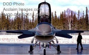 Free Public Domain Picture: F-16 Aggressor Aircraft Being Inspected By Air Force Captain-Eielson Air Force Base Alaska