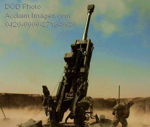 Free Public Domain Picture: Military Weapon-M777 Howitzer at Camp Taji Baghdad