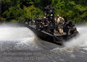 Free Public Domain Picture: Sailors Aboard a Special Warfare Combatant Craft
