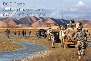Free Public Domain Picture: Afghanistan Soldiers and Police on Patrol Near Qala-i-Wali In Ghowrmach District