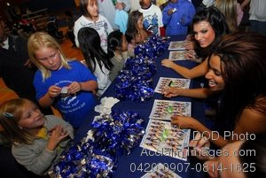 Free Public Domain Picture: Members of the Orlando Magic Dancers Signing Autographs For Sasebo Sailors