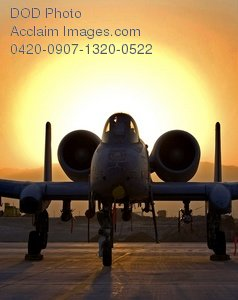 Free Public Domain Picture: A-10 Thunderbolt III Plane at Dawn Photo