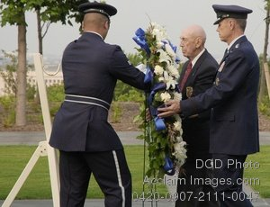 Free Public Domain Picture: Military Staff at a Wreath Laying Ceremony For Prisoners of War Photo