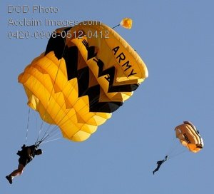 Free Public Domain Picture: Army Golden Knights Parachute Team Photo