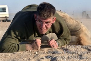 Free, Public Domain Picture: Soldier High Crawling in a Combat Fitness Test