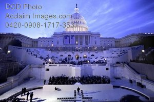Free Public Domain Clipart Picture: Capitol Hill and Grounds at the Capitol Building During the Presidential Inauguration Photo