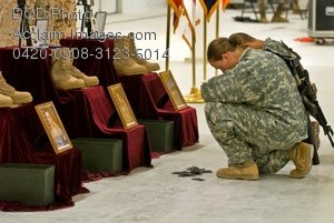 Free Public Domain Picture: American Soldiers Paying Their Respects To Fallen Soldiers Photo