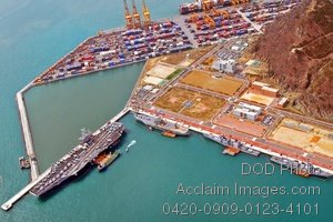 Ariel View of the Port at the Republic of Korea Navy Base Photo