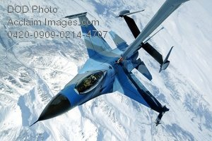 Free Public Domain Picture: F-16 Aggressor Plane Flying Over Alaska While Refueling Photo