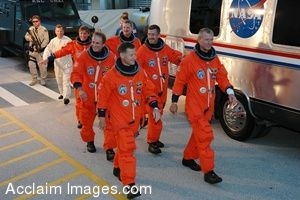 Clip Art Picture of the Space Shuttle Atlantis STS-115 Mission Crew