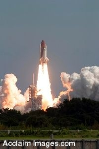 Clip Art Picture of the Launch of Space Shuttle Atlantis - September 9, 2006