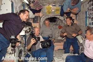 Photo Clip Art of the STS-115 and Expedition 13 Crewmembers in the Unity Node