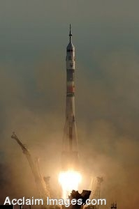 Clip Art Photo of the Launch of the Soyuz Rocket, Expedition 13
