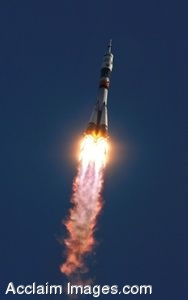 Clip Art Photo of the Soyuz Rocket Launch, Expedition 13