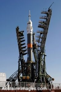 Photo Clip Art Expedition 13 Photograph of the Soyuz TMA-8 Spacecraft on the Launch Pad