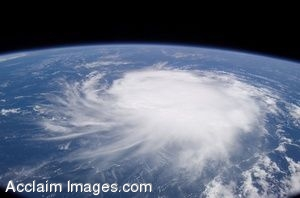 Clip Art Photo of Tropical Storm Chris from Space