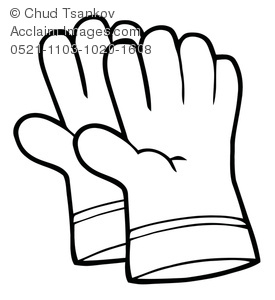 pair of gloves used for yard work coloring page