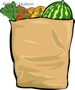 grocery bag full of fresh produce