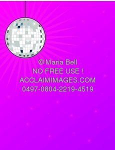 Colorful background with a disco ball overhead
