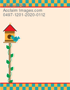 Background image of a bird at its birdhouse