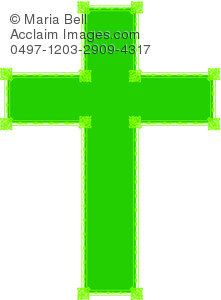 easter cross in green