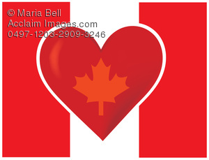 flag of canada with heart