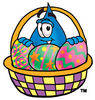 Cartoon Water Drop with an Easter basket Clipart Picture clipart
